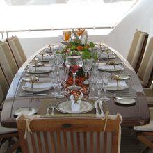 Ionian Princess Yacht Exterior Dining Table