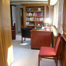 Elsa Yacht Hallway into Study