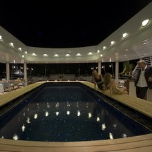 Golden Fleet Yacht Pool - Night