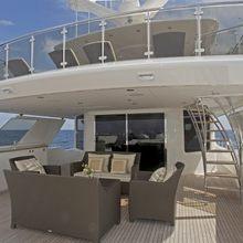 Nina Lu Yacht Exterior Seating Area