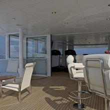 Huntress Yacht Gym & Outdoor Seating