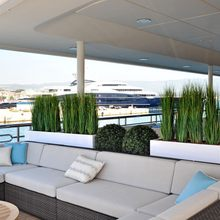 Neom Yacht Outdoor seating