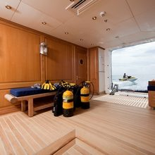 Leander G Yacht Dive Room - View Out