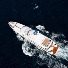 Huntress Yacht Aerial
