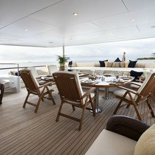 Bella Yacht Main Aft Deck Dining
