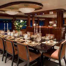 No Comment Yacht Dining Salon