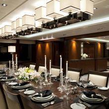 Huntress Yacht Dining Room