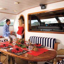 Norfolk Star Yacht Aft Deck Table