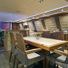Bagheera Yacht Dining Salon