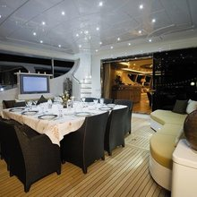 Force India Yacht Aft Deck Dining