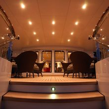 Majestic Yacht Exterior Seating - Evening