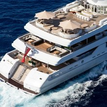 H Yacht Aerial Stern