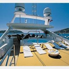 The Lady K Yacht Sundeck Loungers