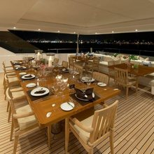 Ice Angel Yacht Aft Deck - Night