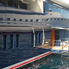 Seven Seas Yacht Side View - Swim Balcony