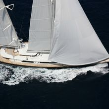 Caoz 14 Yacht Running Shot - Aerial View