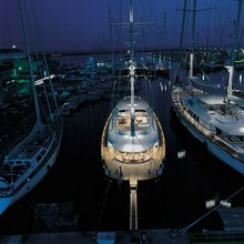 Is A Rose Yacht At Night