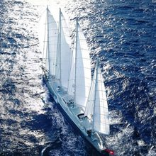 Enigma Yacht Aerial View