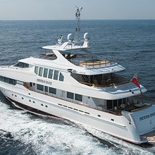 The Lady K Yacht Running Shot - Rear
