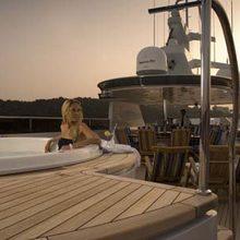 Ionian Princess Yacht Jacuzzi at Sunset