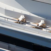 H Yacht Sunloungers on top deck