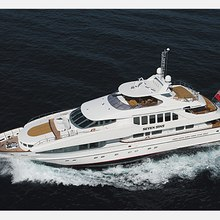The Lady K Yacht Running Shot - Aerial