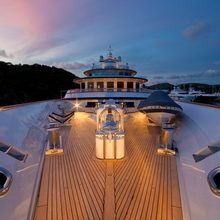 Leander G Yacht Fore Deck - Evening
