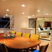 Grand Mariana II Yacht Exterior Table