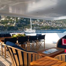 Oxygen Yacht Covered Seating Area