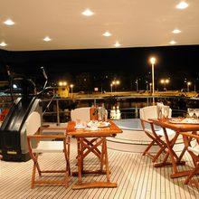 Grand Mariana II Yacht Jacuzzi Seating