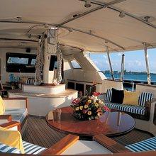 Norfolk Star Yacht Aft Deck - Day