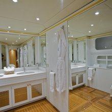 Achilles Yacht Lower Deck Guest Bathroom
