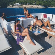 Proton Yacht Sun Bathing