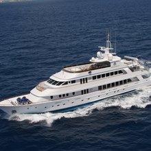 Ionian Princess Yacht Running Shot - Aerial