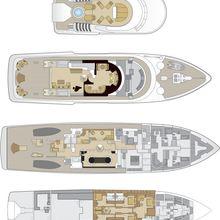 Lady A Yacht Deck Plans