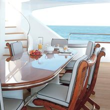 Il Sole Yacht Exterior Dining