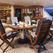 Lady M II Yacht Exterior Dining