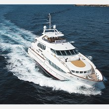 The Lady K Yacht Running Shot - Aerial View