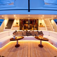 Lady Anastasia Yacht Sundeck Seating