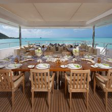 Ice Angel Yacht Exterior Dining