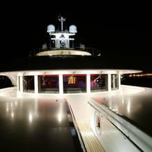 Bella Vita Yacht Bridge Deck - Night