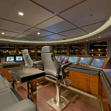 Bella Vita Yacht Wheelhouse