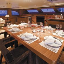 Ethereal Yacht Upper Salon Dining - Evening