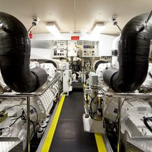 Strega Yacht Engine Room
