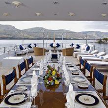 Achilles Yacht Bridge Deck Dining