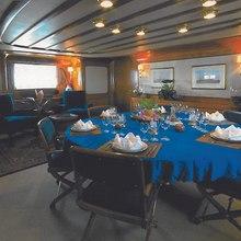 Blue Gold Yacht Dining Salon