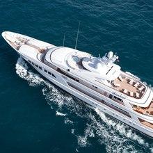 Majestic Yacht Running Shot - Aerial View