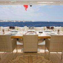 Veneta Yacht Upper deck area