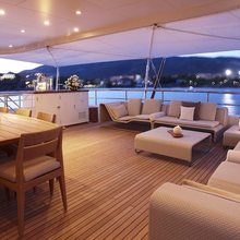 Megan Yacht On Deck Dining - Night
