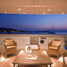 Fan Too Yacht Aft Deck Seating